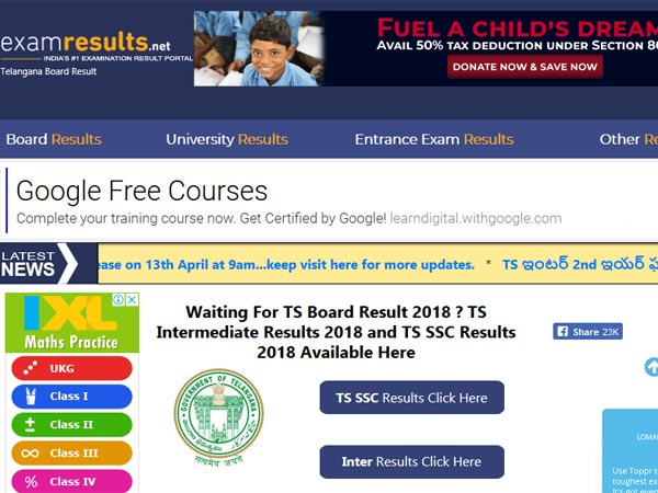 Telangana Inter Result 1st and 2nd year Result 2018 to be declared today