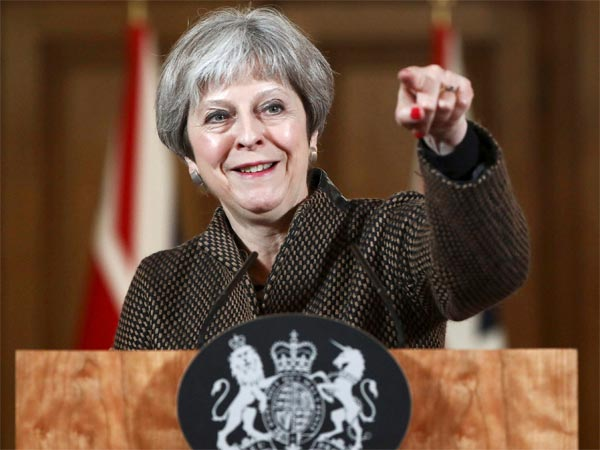 Britains Prime Minister Theresa May