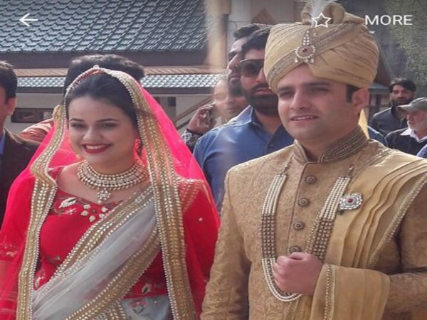 Tina Dabis marriage (Image courtesy - Twitter/@dabi_tina)