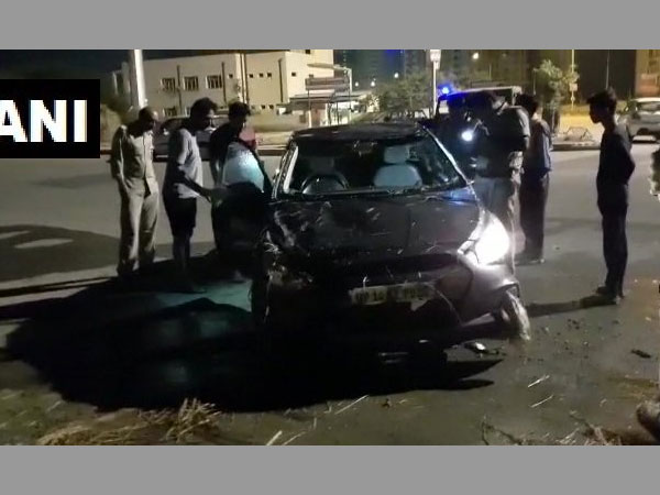Noida: Radio executive dies after car falls into open drain along road