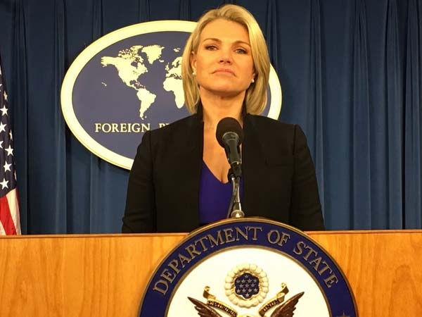 US State Department spokeswoman Heather Nauert
