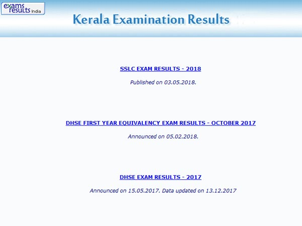 Kerala DHSE Class 12th Results 2018 on 10th May