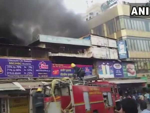 Flames erupt at a sweet shop in Malad