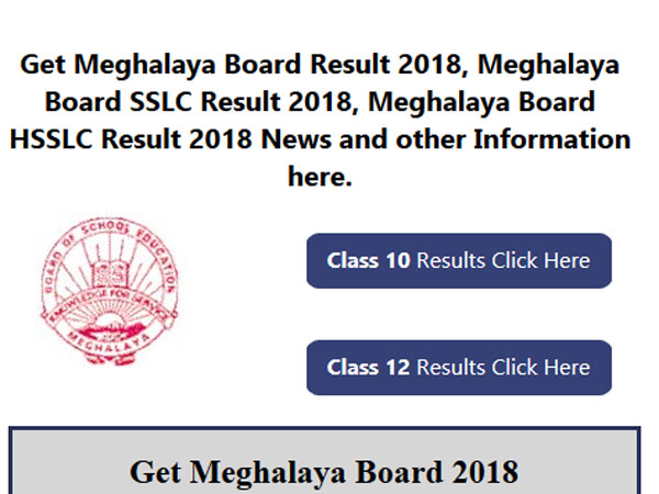 Meghalaya Class 12 arts Results 2018 to be declared on this date