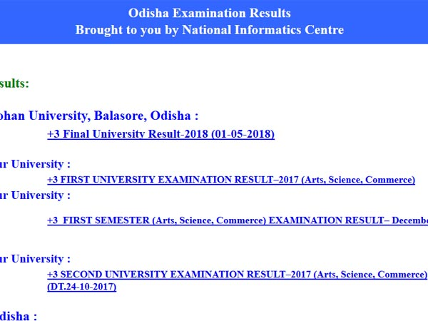 Fakir Mohan University, Odisha plus 3 final result declared