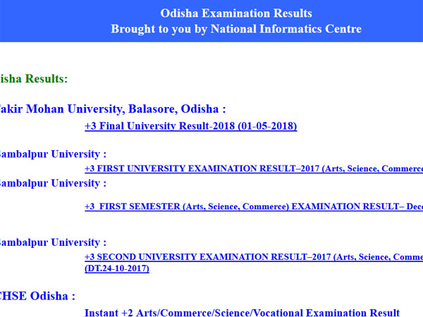 BSE Odisha Class 10 Result 2018 to be declared today