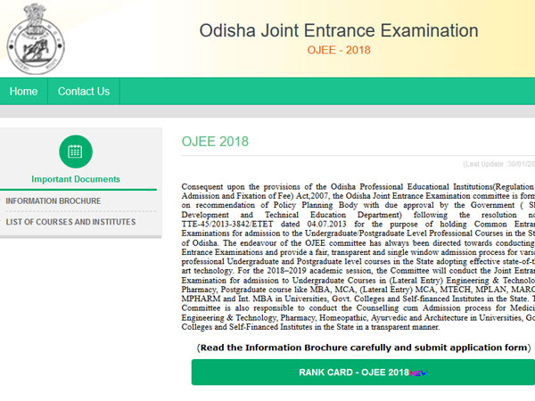 OJEE 2018 result declared on ojee.nic.in