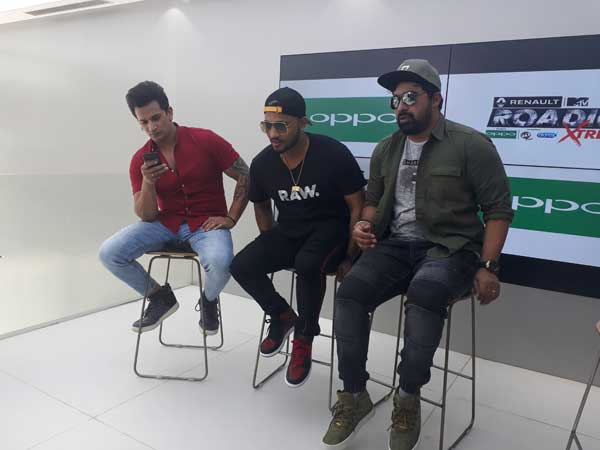Roadies judges at Oppo store at Church Street in Bengaluru