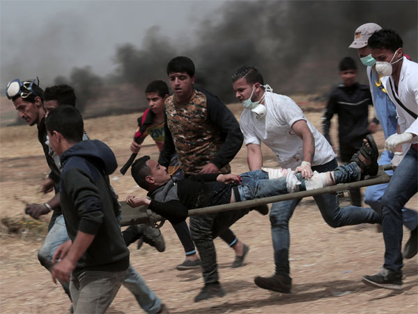 Over 1,100 Palestinians injured in Israeli firing, tear gas attack