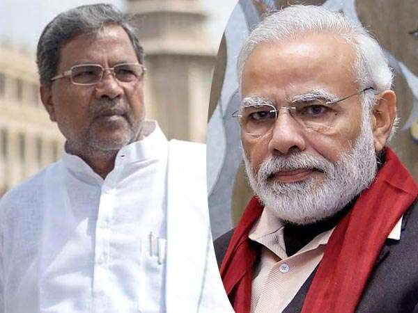 Siddaramaiah and Narendra Modi