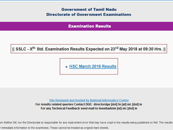 Tamil Nadu SSLC results 2018 date confirmed, here is the time