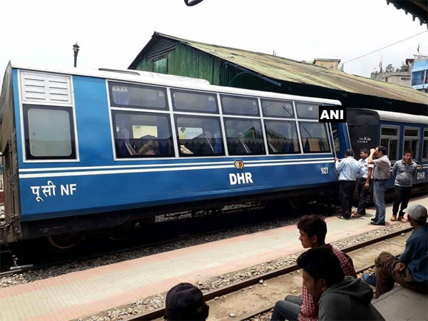Darjeeling toy train derailed. Courtesy: ANI news