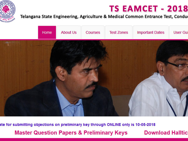 TS EAMCET 2018 answer keys released, steps to download