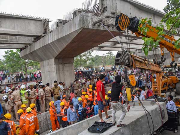 Uttar Pradesh: Under construction flyover collapses in Varanasi, 16 dead