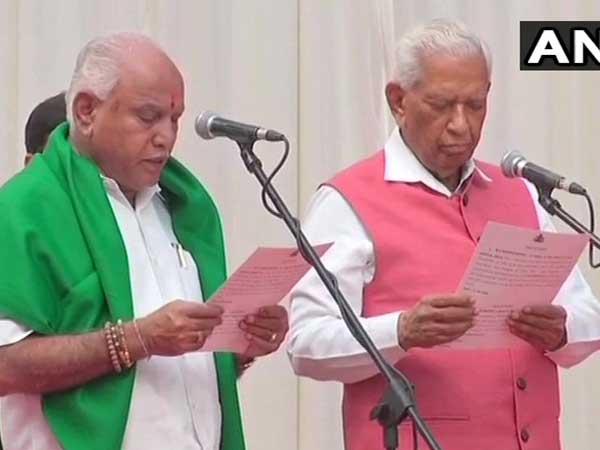 BS Yeddyurappa sworn-in as 23rd Chief Minister of Karnataka