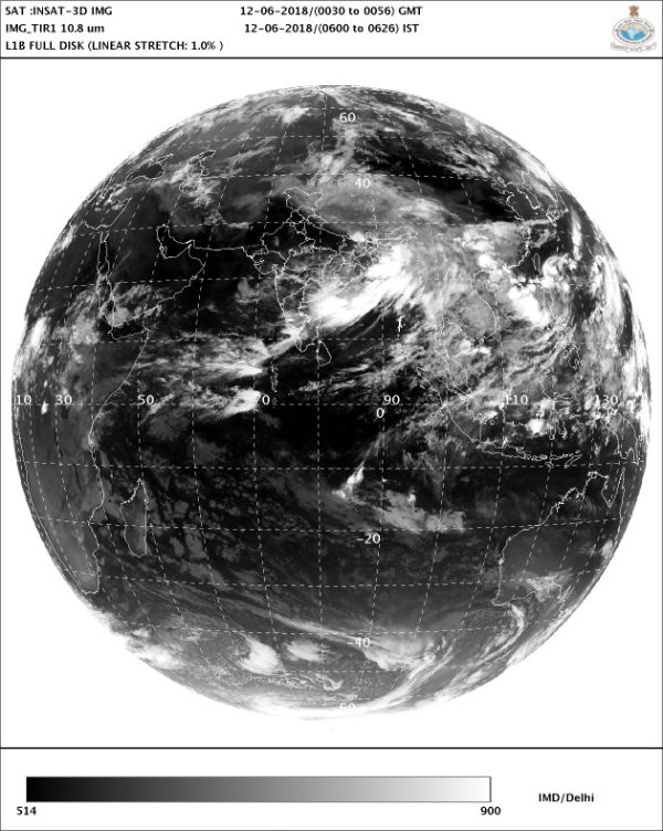 IMDs satellite image showing position of clouds over India