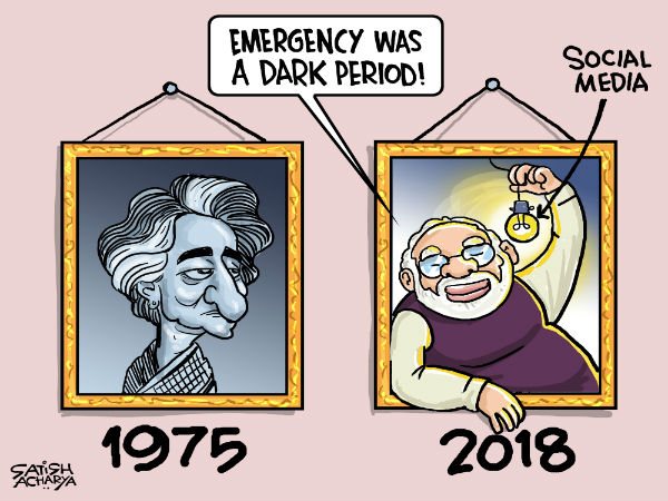 On Tuesday, Prime Minister Narendra Modi in a series of tweets expressed his anguish over the dark period and saluted all those who resisted the Emergency.