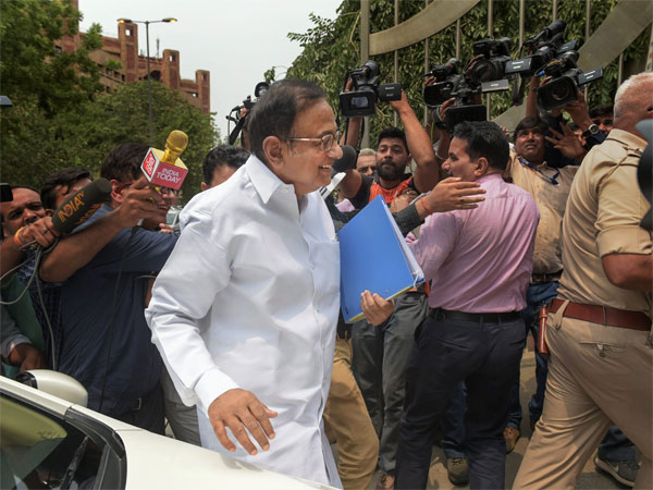 Former finance minister P Chidambaram arrives for questioning in the Aircel-Maxix case at CBI headquarters, in New Delhi
