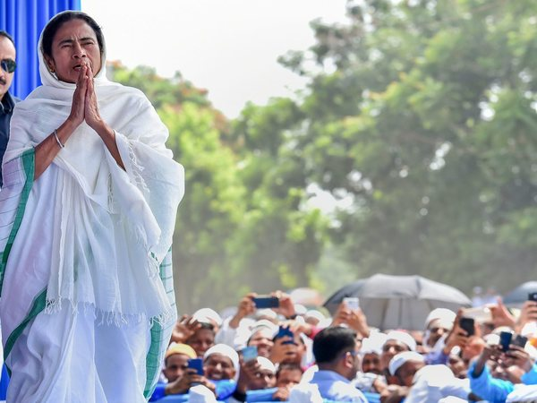Chief Minister Mamata Banerjee greets