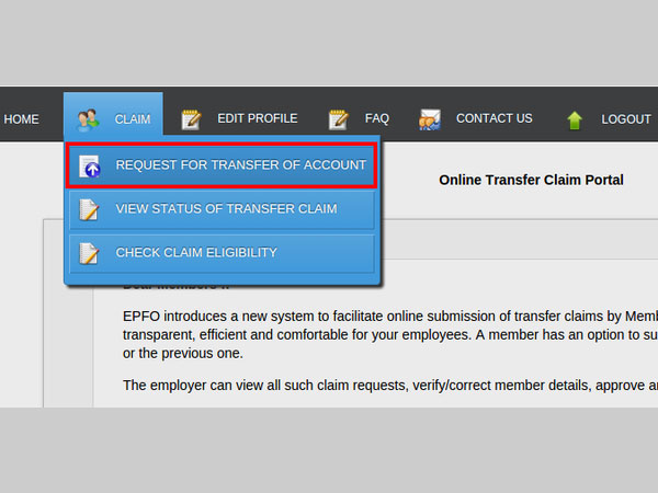How to Transfer PF (Provident Fund) online to another account