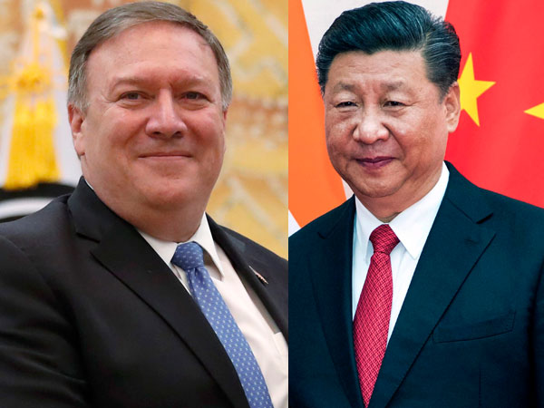 US Secretary of State Mike Pompeo and Chinese President Xi Jinping