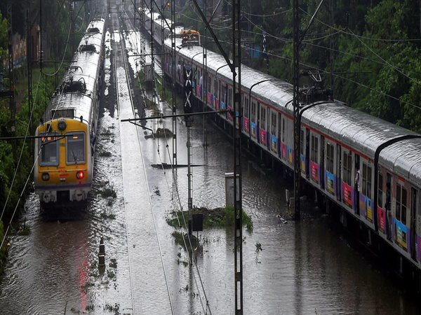 Train services were severely affected on Monday due to rains