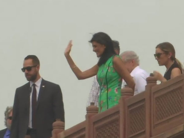 Nikki Haley visits Humayuns Tomb in Delhi