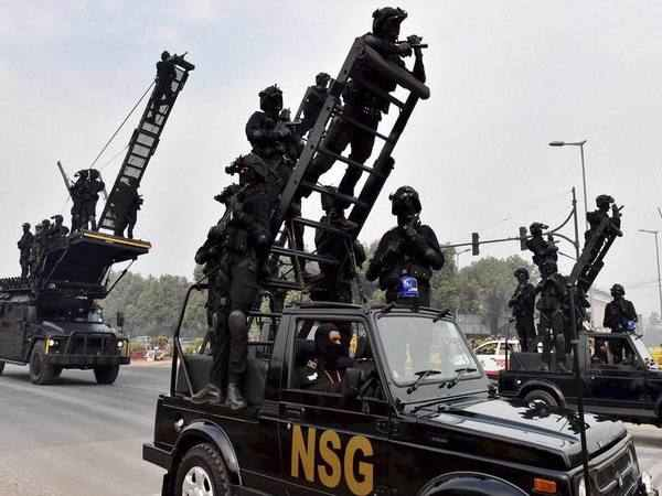 NSG Commandos during a rehearsal in New Delhi. PTI file photo