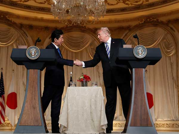 Abe to meet Trump again today; shows Tokyo's worry over being left out of N Korea peace process