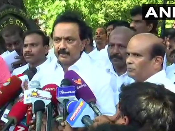 DMK working President MK Stalin. Courtesy: ANI news