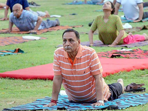 Yoga best cure for stress says Guj CM Rupani