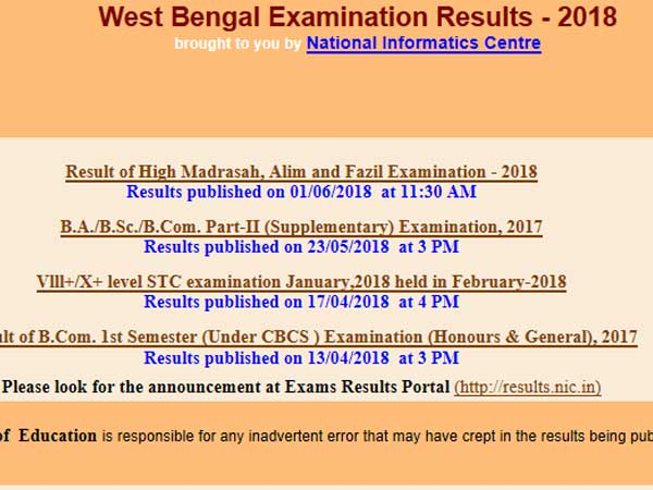 West Bengal Madhyamik Result 2018 to be declared today at this time