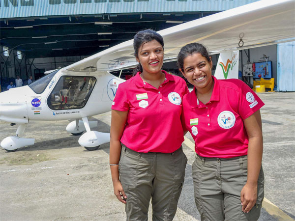 Capt. Keithair Misquitta (R) and Capt. Aarohi
