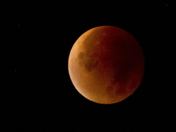 Moon appears blood red in eclipse