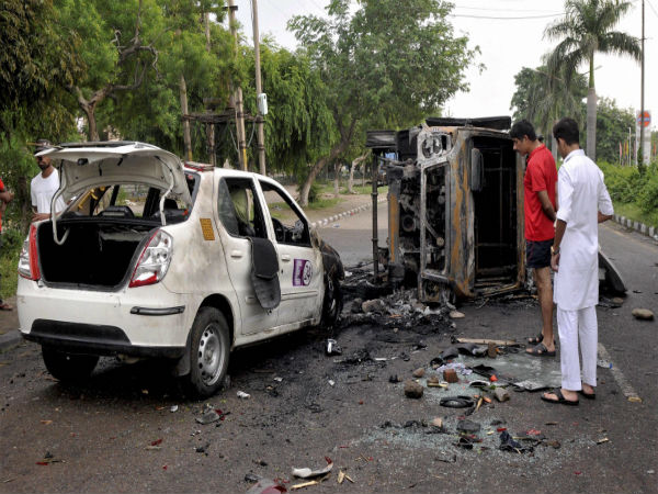 Dera violence file photo