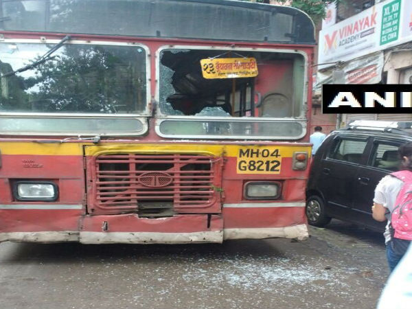 TMT bus vandalised in Thane