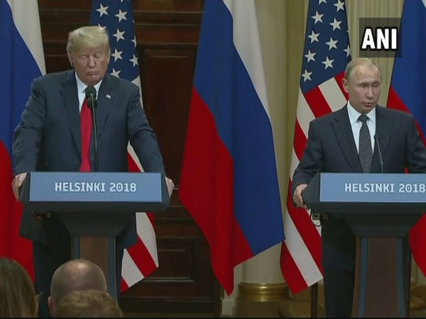 Donald Trump, Vladimir Putin address joint press conference in Helsinki