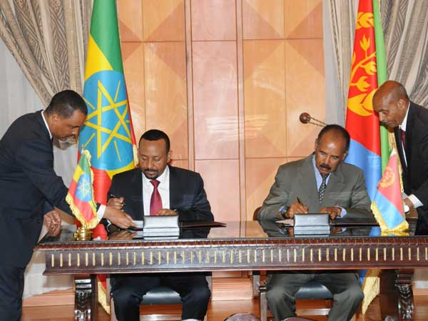 Horn of Africa enemies Ethiopia and Eritrea declare end of war, vows normalisation of ties