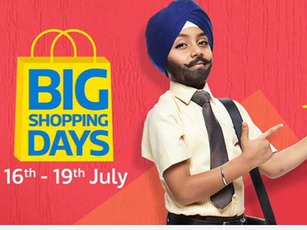 Flipkarts big shopping days sale from July 16