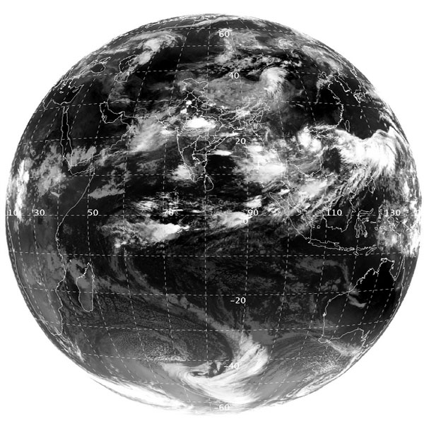 INSAT 3D image. Courtesy: IMD