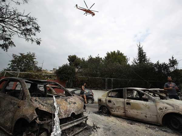 Greek fires: Death toll climbs to 88