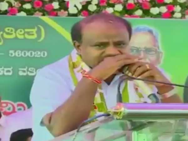 I am not happy being CM, says teary-eyed Kumaraswamy