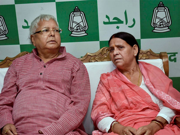 File photo of Lalu Prasad Yadav and Rabri Devi