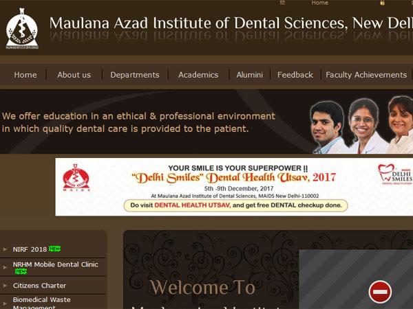 MAIDS ranked best dental college for seventh year in a row