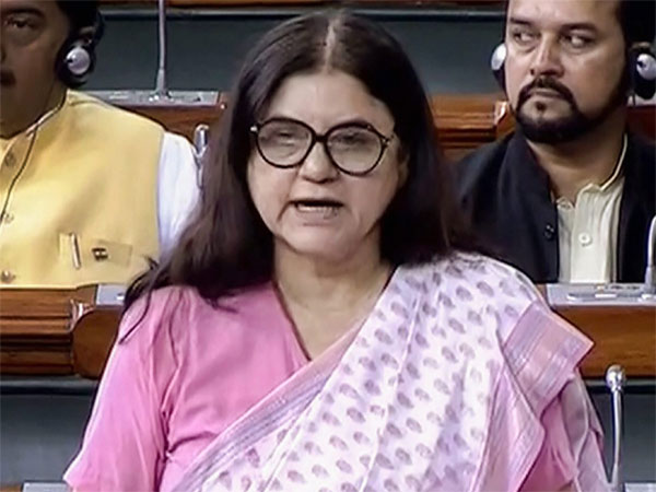 Union Minister for Women and Child Development Maneka Sanjay Gandhi speaks in the Lok Sabha during the Monsoon session of Parliament, in New Delhi
