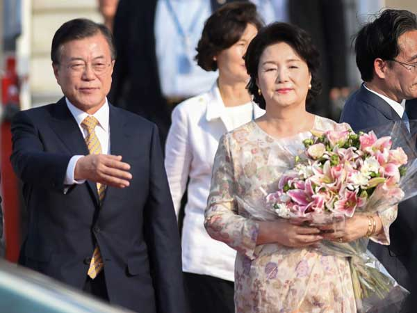 South Korean President Moon Jae-in visits India for 4-day visit