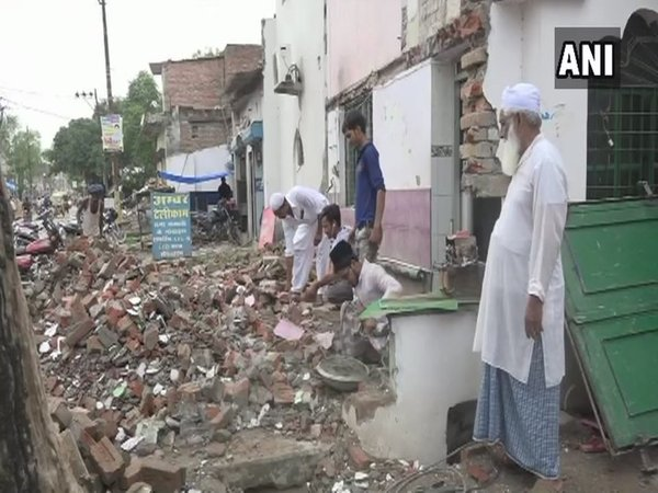 Muslims of Allahabad demolishing Mosques (Image courtesy - ANI/Twitter)