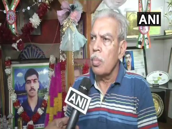 Captain Saurabh Kalias father NK Kalia (Image courtesy - ANI)