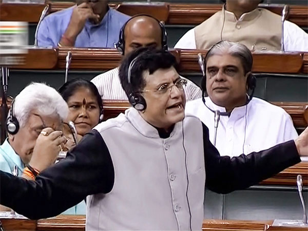 Finance Minister Piyush Goyal speaks in the Lok Sabha during the Monsoon session of Parliament