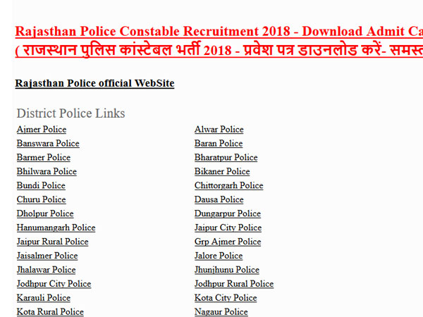 Rajasthan Police Constable Result 2018 declared, how to check